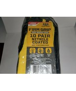 10 Pair Firm Grip Nitrile Coated Work Gloves Home Depot Brand Safety gloves - $21.78