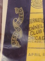 Vintage CHICAGO Kennel Club Award Ribbon 1963 AKC BEST OF BREED image 3