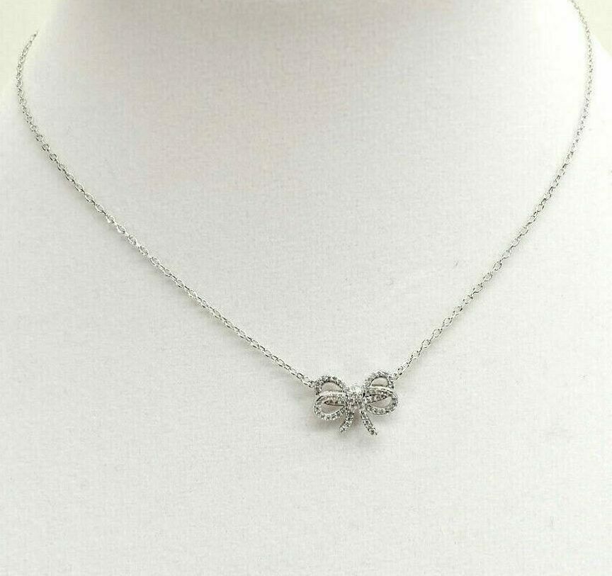 Primary image for Kate Spade New York Necklace Bow Meets Girl Mini Pendant Silver