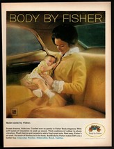 Original 1967 Body by Fisher GM Mother with Baby Vintage Print Ad - $9.49