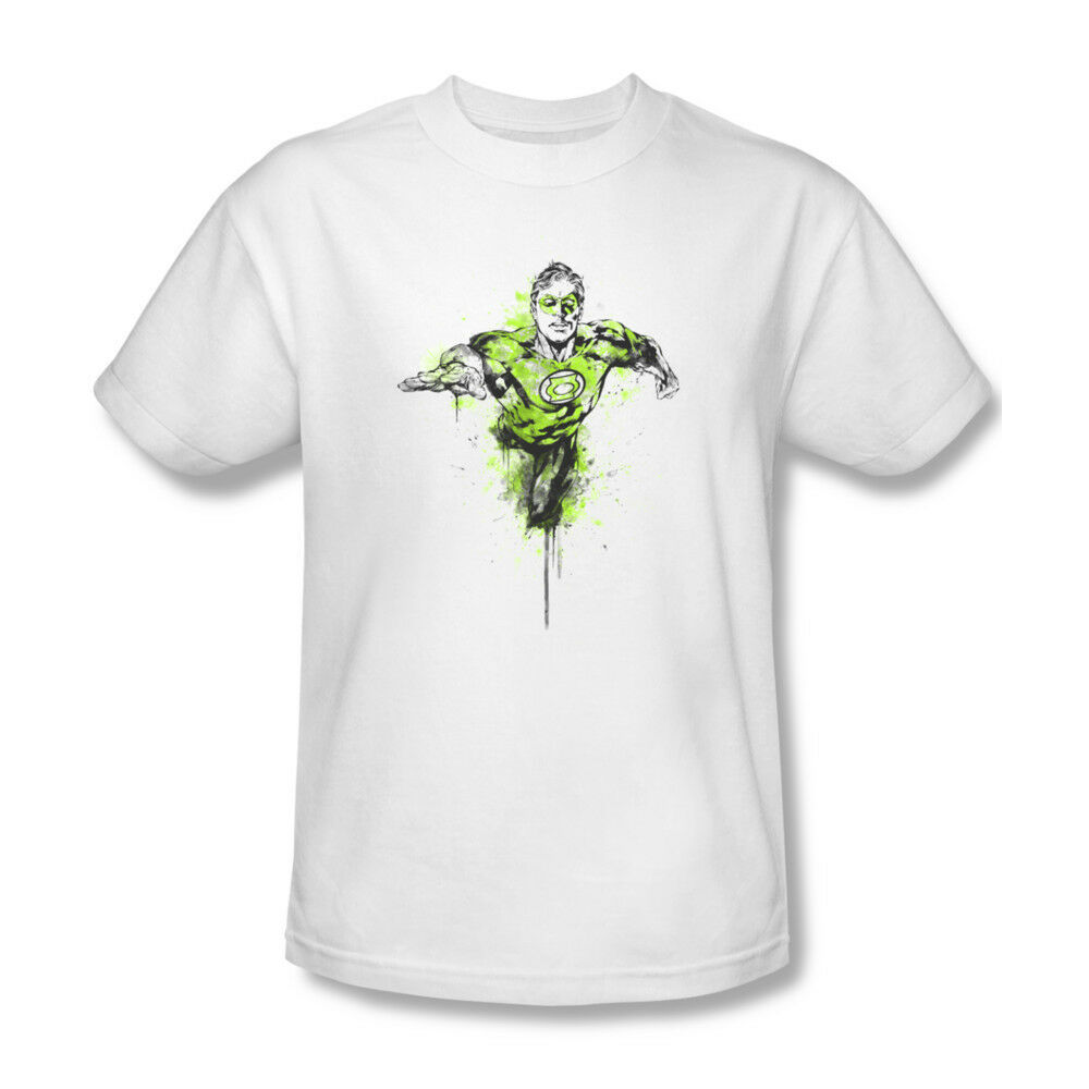 Green Lantern T-shirt Color Splash DC comics book superhero cotton tee GL312
