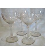 Libbey Rock Sharpe 1013 Arvida Tall Champagne Sherbet Goblet Stem Set of 4 - $40.48