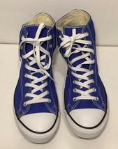 Vtg. Converse Size 12 Blue All Star Chuck Taylor High Hi Top Sneakers Sh... - $49.49