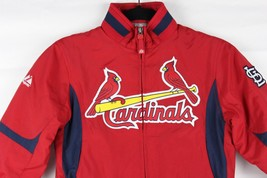 Authentic Majestic kids Cardinals jacket therma base zip up long sleeve ... - $21.12