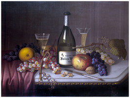 Decor Fruits and Wine on Table Poster.Home wall art.Home Wall Design 1287 - $11.30+