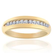 0.25 Carat Round Cut Brilliant Diamond Wedding Band 14K Yellow Gold - $266.31
