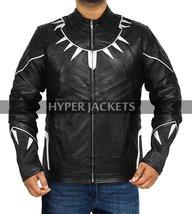 Black Panther Avengers Infinity War T'Challa (Chadwick Boseman) Black Leather Co image 1