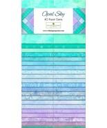Jelly Roll-Opal Sky-40 Strips-Wilmington Prints-Dups-Lt. Blues-Lavenders... - $39.95