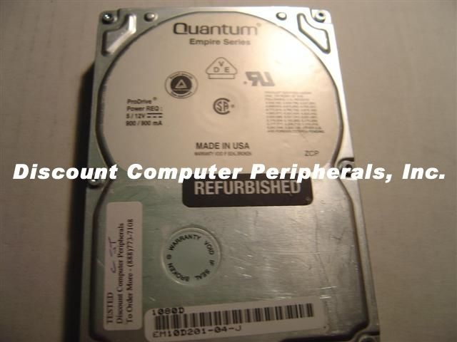 "Quantum EM1080WD 1GB 3.5"" SCSI DIFF 68pin Drive Tested Good Free USA Shipping"