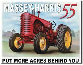 Massey Harris 55 Finish More Acres Farming Tractor Farm Equipment Metal Sign - $20.95