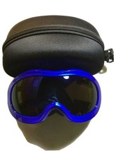 Ski Goggles With Protection Case Mirrored Lens - Blue - UV400 - Adjustable - $19.39