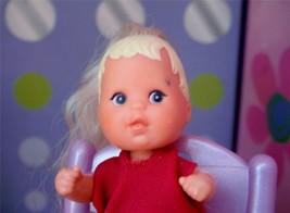 Barbie Krissy Princess Blonde Baby Doll Long Blonde Hair fits Loving Fam... - $14.84