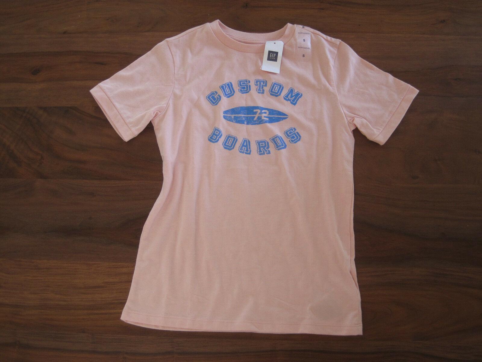 GAP Kids Girls T-shirt Top S 6 7 Short Sleeve Crew Neck Light Pink Graphic New