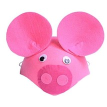 PANDA SUPERSTORE Set of 2 Lovely [Pink Piggy] Kids Party Favors Funny Party Hats