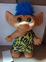 """Under a Doll 8"""" Caveman Troll Blue Hair Brown Eyes - $10.00"""