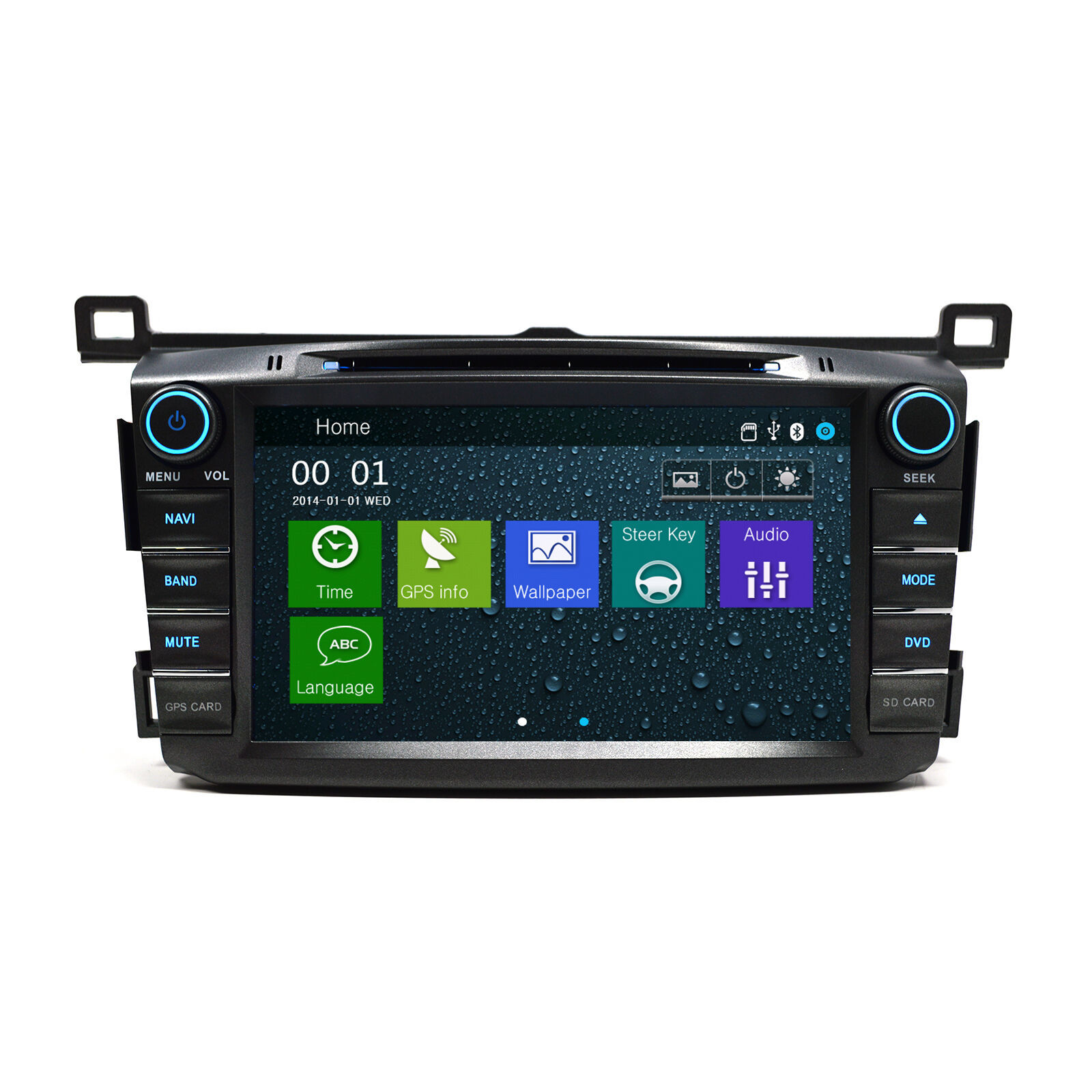 In Dash OE Fitment Player Navigation Radio Bluetooth GPS Toyota RAV4 13 - 18