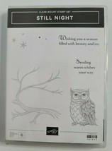 STILL NIGHT Stamp Set & NIGHT OWL Framelits By Stampin Up Halloween Branch - $49.99
