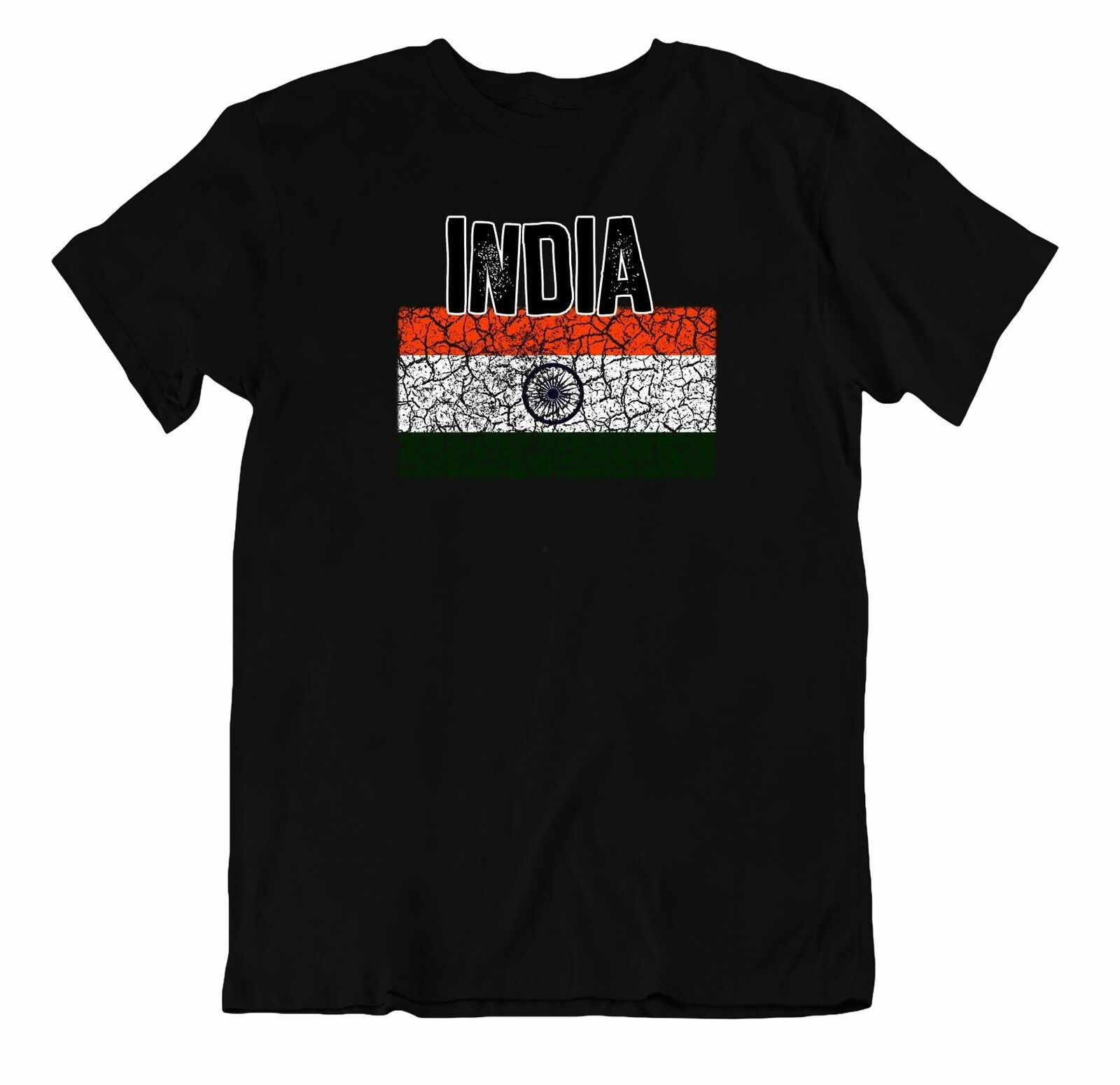 Primary image for Flag T-Shirt India Fashion Country Souvenir Gift Tee Pride logo