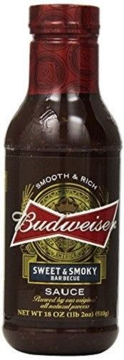 Budweiser Sweet & Smoky Barbecue Sauce 2 Bottle Pack