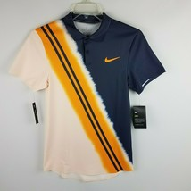 Nike Men Tennis DriFit Slim Fit Polo AQ4318 408 Gray Orange Size XS - $44.95