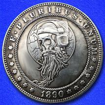 """Bearded Rockin Skull """"Hobo Nickel"""" on Morgan Dollar Coin ** - $4.79"""