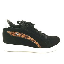 Ryka Womens Viv Leather Lace Up Snake Print Wedge Sneaker Shoes Cloud Black 10W - $39.59