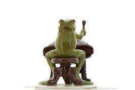 Hagen Renaker Miniature Frog Froggy Mountain Breakdown Dulcimer Ceramic Figurine image 6