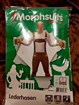 """Morphsuits Lederhosen Oktoberfest Men's Large 5' 4"""" to 5' 10"""" New - $14.85"""