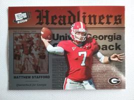 Matthew Stafford 2009 Press Pass SE Headliners #HL-34 Rookie Year - $2.25