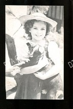 SHIRLEY TEMPLE WITH BABY GOAT-1930-ARCADE CARD-PORTRAIT G - $16.30