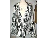 New NWT Womens 10 Italy Designer Silk Blouse Just Cavalli 46 Black White Bell - £190.05 GBP