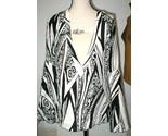 New NWT Womens 10 Italy Designer Silk Blouse Just Cavalli 46 Black White Bell - €211,33 EUR
