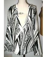 New NWT Womens 10 Italy Designer Silk Blouse Just Cavalli 46 Black White... - $236.70