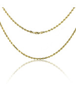 14k Yellow Gold Solid Dc Rope 26 inch Chain - $1,699.90