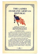 The Ladies of the Grand Army of the Republic American Flag Information 1930 - $34.65