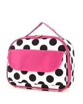 Canvas black and pink lunch bag box CN96LTL WHBK polka dots BS302 - $12.00