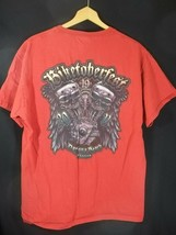 Biketoberfest 2011 T Shirt Red Daytona Beach XL 19th Anniversary Skulls - $11.53