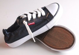 NEW Levi's Denim Blue Girls Stan G Canvas Sneakers Gym Shoes New in Box 1091100 image 2