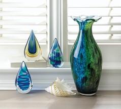 Peacock Bloom Art Glass Vase - $116.70