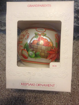 Vintage 1981 Grandparents Hallmark Glass Orname... - $10.00