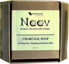 Handmade Neev Charcoal Soap For Deep Pore Cleansing and Flawless Skin - ... - $11.07