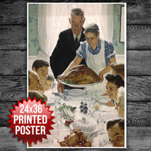 "NORMAL ROCKWELL FREEDOM FROM WANT POSTER 24"" x 36"" - $13.37"