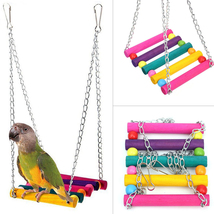 Bird Swing Toys,Parakeet Perches Hanging Cage Toy for Conures Parrots Pa... - £8.70 GBP