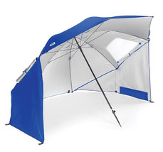Blue Umbrella Sun Weather Canopy Shelter Beach Camping Team Sport Portab... - $97.94 CAD