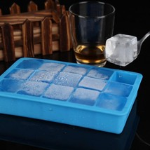 DIY Ice Cube Mold Square Shape Silicone Tray Fruit Ice Cream Maker Kitch... - $9.92