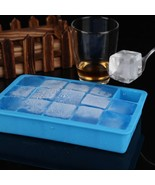 DIY Ice Cube Mold Square Shape Silicone Tray Fruit Ice Cream Maker Kitch... - $9.92
