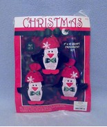 Hobby Lobby 3 Christmas Penguins Craft Ornament Kit 9100459 2013 - $6.99
