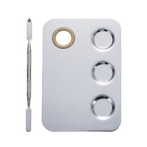 Nail-Art Palette Cosmetic Mixing Palette with Spatula Tool For Lady - $7.70
