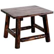 United General Supply TX93702 Natural Organic Char-Log Wood End Table - $87.70