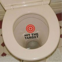 "HS Sticker - 1pcs ""Hit The Target"" Toilet Stickers Wall Decorations DIY  - $3.00"